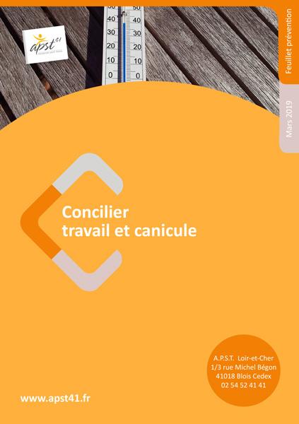 Concilier travail et canicule - APST41