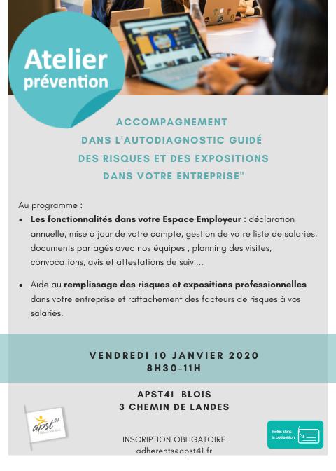 Atelier Prévention 10 Janvier 2020